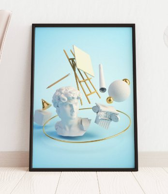 Quadro Decorativo 3D Illustration Concept Of The Renaissance Art