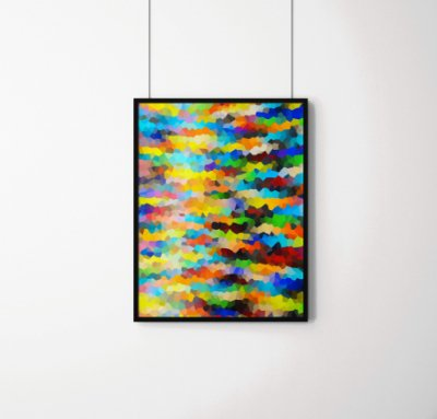 Quadro Decorativo Abstract Background Of Crystallized Colorful Mosaic