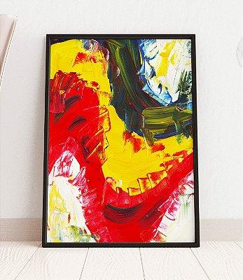 Quadro Decorativo Abstract Multicolor Acrylic Paint Texture