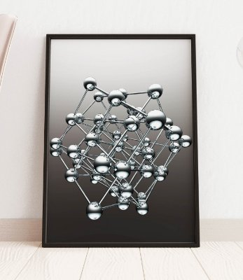Quadro Decorativo A Cluster Of Spheres In 3D Rendering