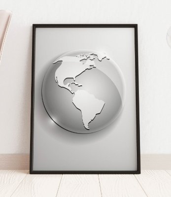 Quadro Decorativo Globe Icon Of The World