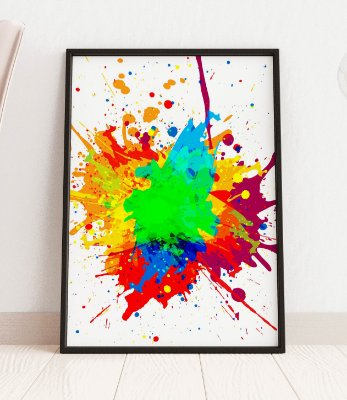 Quadro Decorativo Abstract Paint Color Design Background