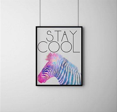 Quadro Decoratvo Abstract Zebra Art, Stay Cool
