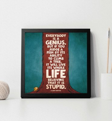 "Quadro decorativo ""Frase Albert Einstein"""