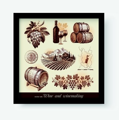 Quadro Decorativo Gourmet Wine And Winemaking