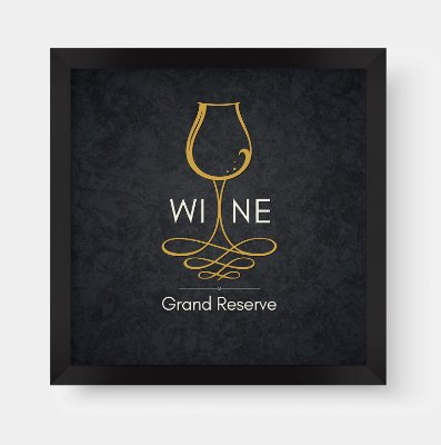 Quadro Decorativo Gourmet Wine Grand Reserve