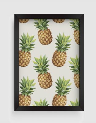 Quadro Decorativo Gourmet Pineapple Seamless Pattern