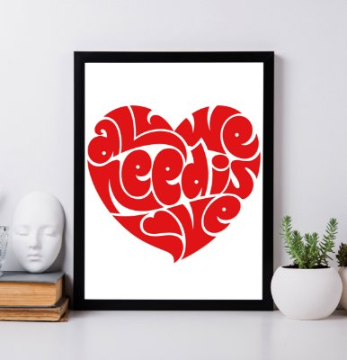 """Quadro Decorativo """"All we need is love"""" from Beatles"""