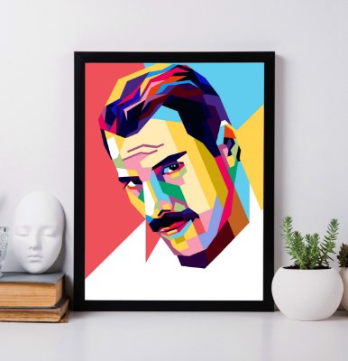 Quadro Decorativo Freddie Mercury in the modern pop art style.