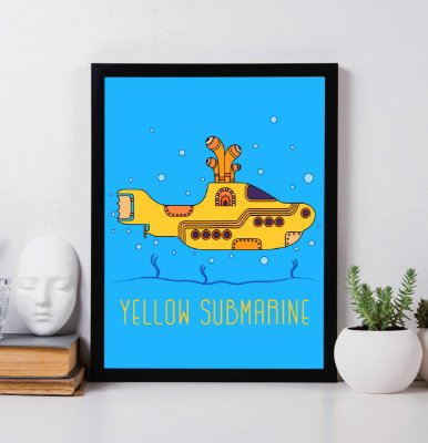 "Quadro Decorativo ""Yellow Submarine"" The Beatles."