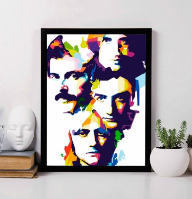 Quadro Decorativo Musical - Queen Band.