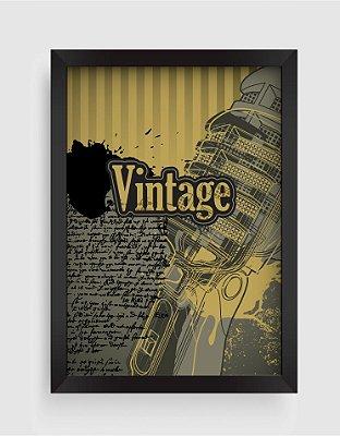 Quadro Decorativo Vintage Classic Karaoke