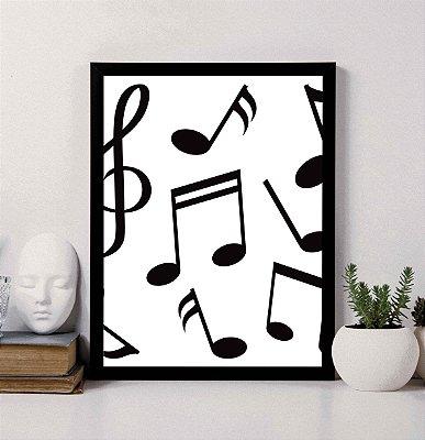Quadro Decorativo Musical 2 - Notas Musicais.