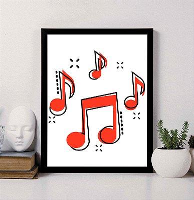Quadro Decorativo Musical 3 - Notas Musicais.