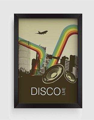 Quadro Decorativo Retro Vintage Disco Livre