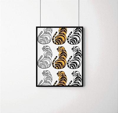 Quadro Decorativo Animais - Tigres