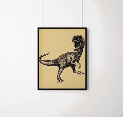 Quadro Decorativo Animais- Tyrannosaurus rex.