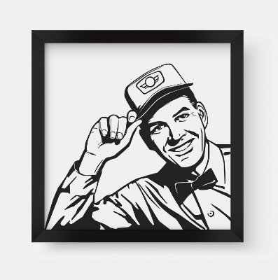 Quadro Decorativo Vintage Message Man