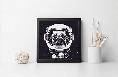 Quadro Decorativo Animais- Space Pug.