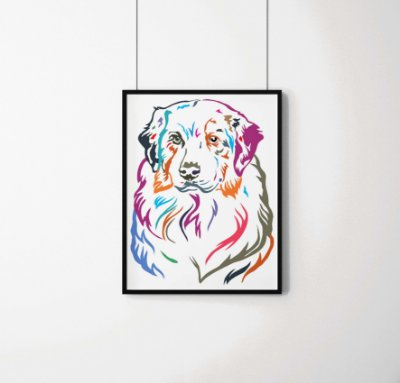 Quadro Decorativo Animais- Colourful Dog.