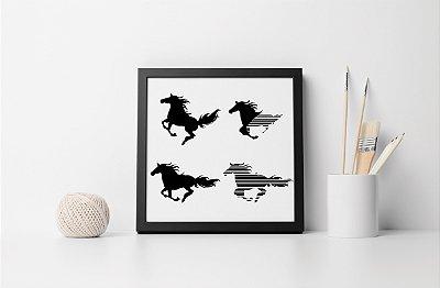 Quadro Decorativo Animais- Horses Running.
