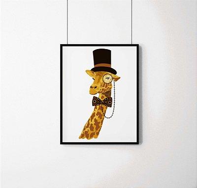 Quadro Decorativo Animais- Elegant Giraffe.