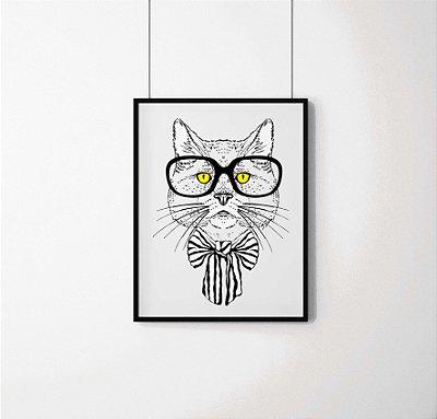 Quadro Decorativo Animais- Smart Cat