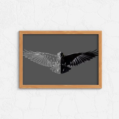 Quadro Decorativo Animais- Eagle abstract.