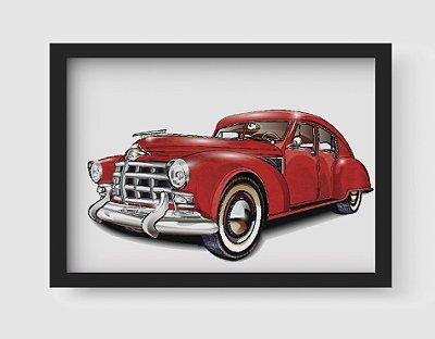 Quadro Decorativo Vintage Red Old Classic Car