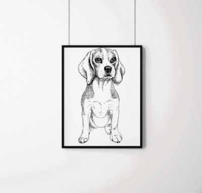 Quadro Decorativo Animais- Little Beagle.