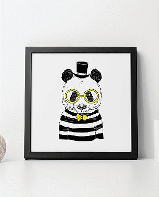 Quadro Decorativo Animais- Elegant Panda.