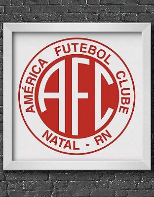 Quadro Decorativo Time: América Futebol Club - AFC