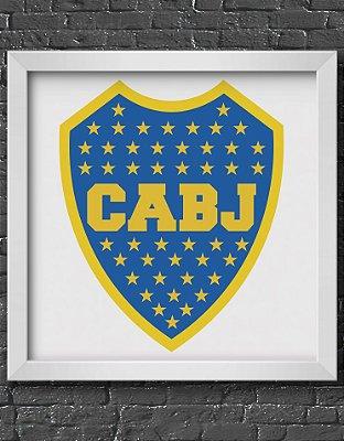 Quadro Decorativo Time: Clube Atlético Boca Juniors - CABJ