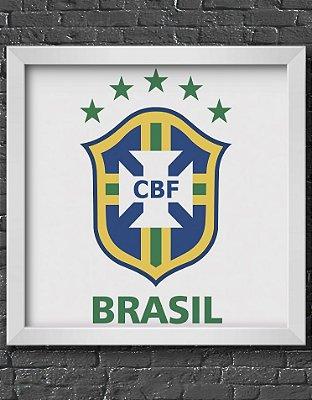 Quadro Decorativo Time: Brasil - CBF (Confederação Brasileira de Futebol)