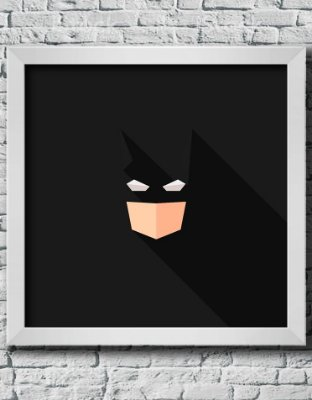 Quadro Decorativo Geek- Abstract Batman.