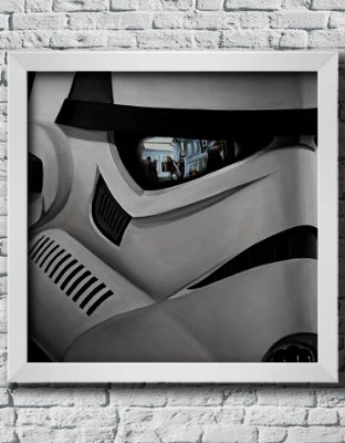 Quadro Decorativo Geek- Star Wars- Storm trooper.