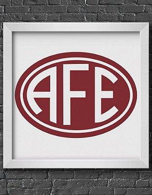 Quadro Decorativo Time: Associação Ferroviária de Esportes - AFE