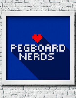 "Quadro Decorativo Geek- ""Pegboard Nerds"""