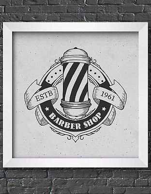 Quadro Decorativo Para Barbearia Vintage Barber Pole