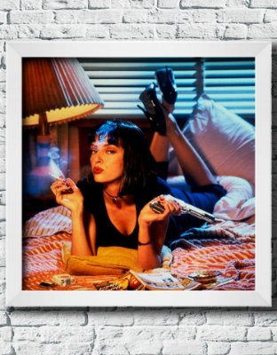 "Quadro Decorativo Filmes e Séries- ""Pulp Fiction"""