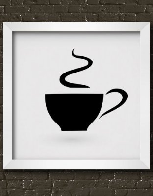 Quadro Decorativo Coffee Cup Icon