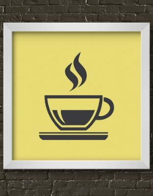 Quadro Decorativo Hot Coffee Cup Icon