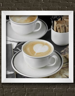 Quadro Decorativo Cups Cappuccino With Heart