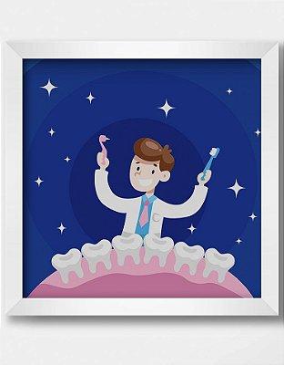 Quadro Decorativo Ortodôntico Ilustrativo Dia da Odontologia