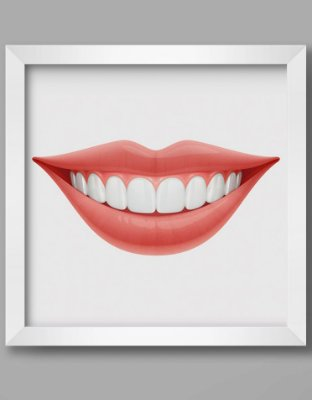 Quadro Decorativo Ortodôntico Ilustrativo Human Smile