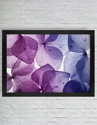 QUADRO DECORATIVO FLORES ROXAS DEGRADÊ