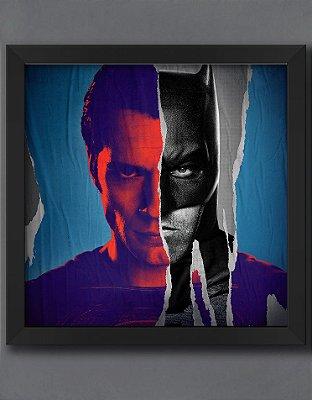 QUADRO DECORATIVO HERÓIS BATMAN VS SUPER MAN