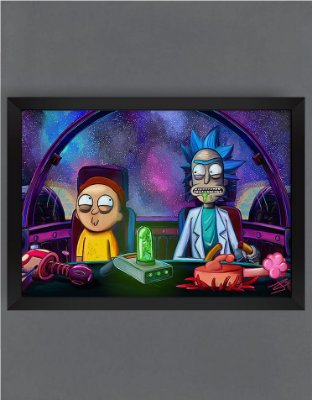 QUADRO DECORATIVO RICK E MORTY 7