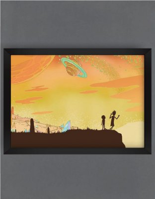 QUADRO DECORATIVO RICK E MORTY 11