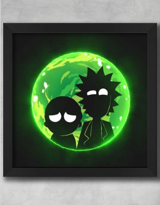 QUADRO DECORATIVO RICK E MORTY 21